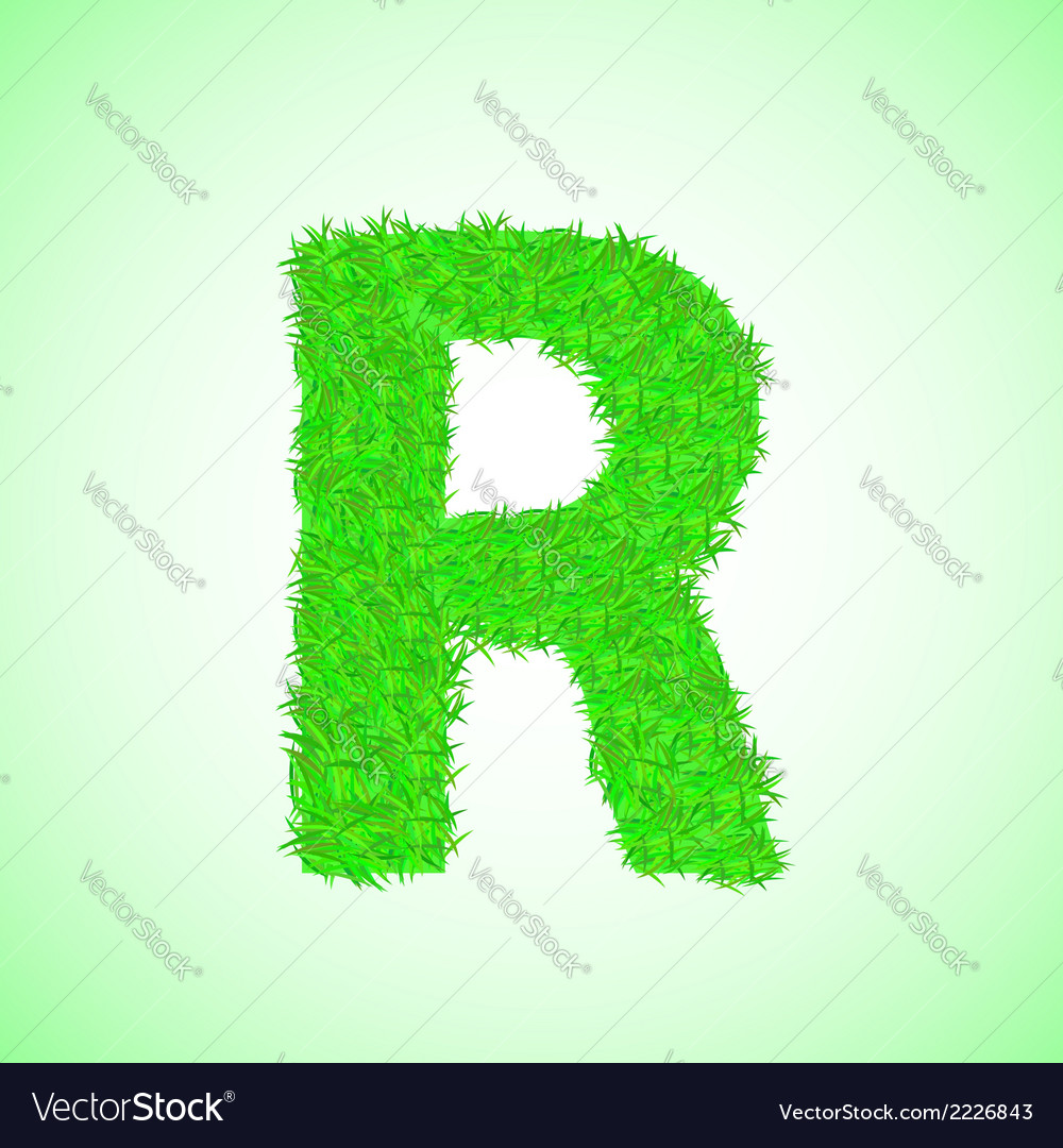 Grass letter r vector | Price: 1 Credit (USD $1)