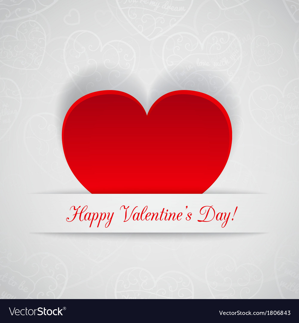 Greeting card for valentines day vector | Price: 1 Credit (USD $1)