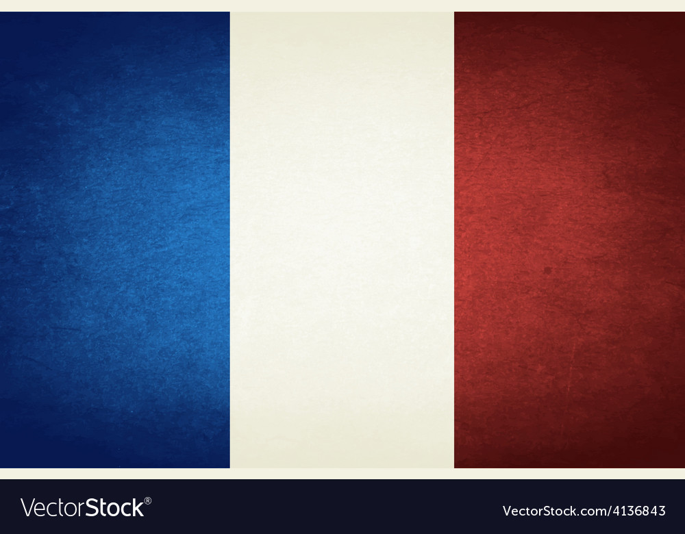 Grunge flag of france vector | Price: 1 Credit (USD $1)