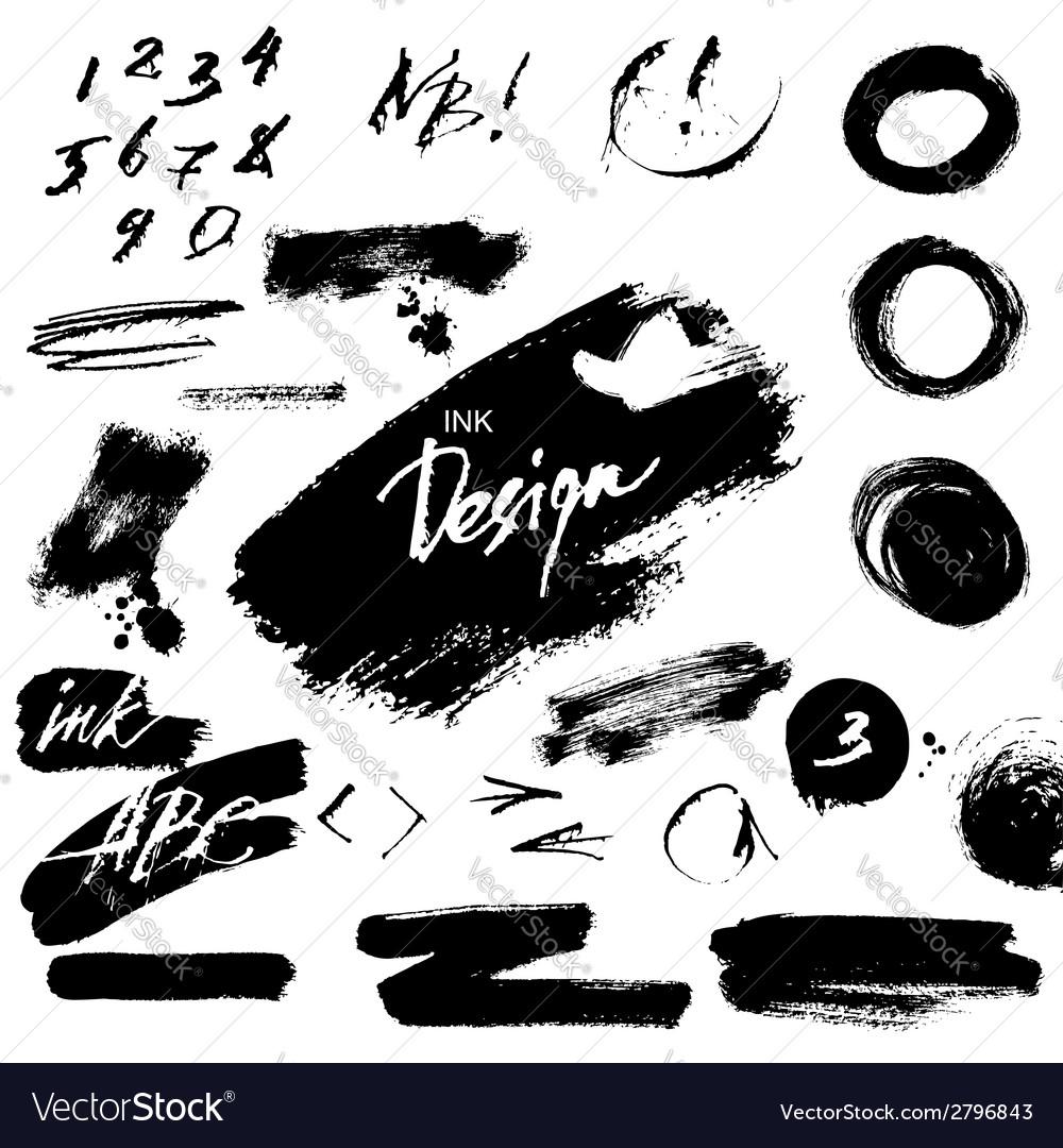 Grunge ink design elements vector | Price: 1 Credit (USD $1)