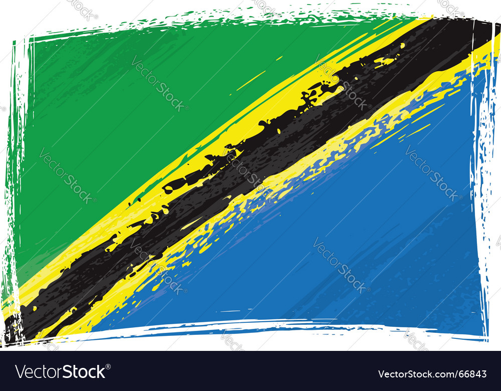 Grunge tanzania flag vector | Price: 1 Credit (USD $1)