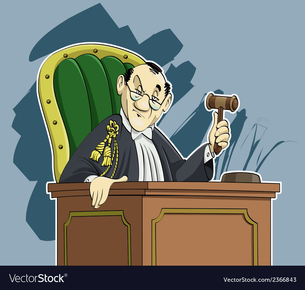 Judge cartoon vector | Price: 1 Credit (USD $1)