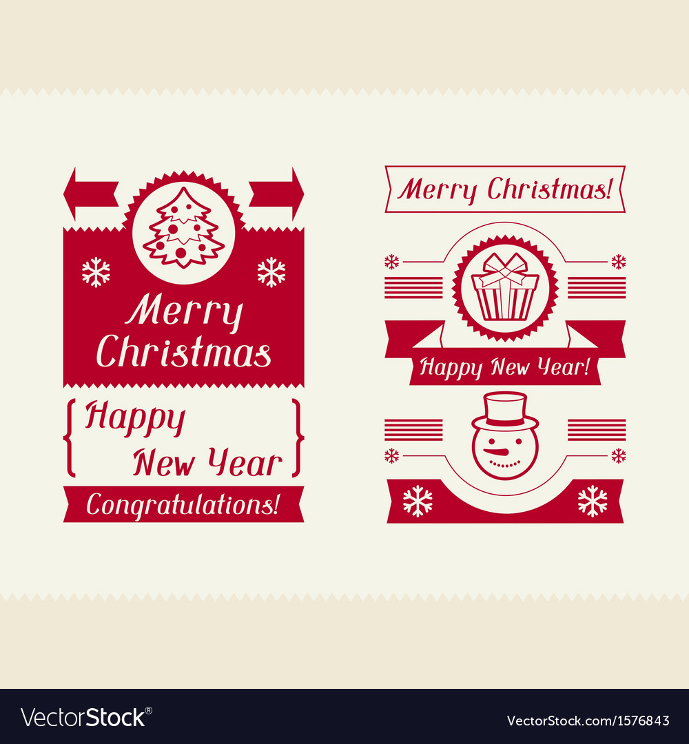 Merry christmas invitation typographic design vector | Price: 1 Credit (USD $1)