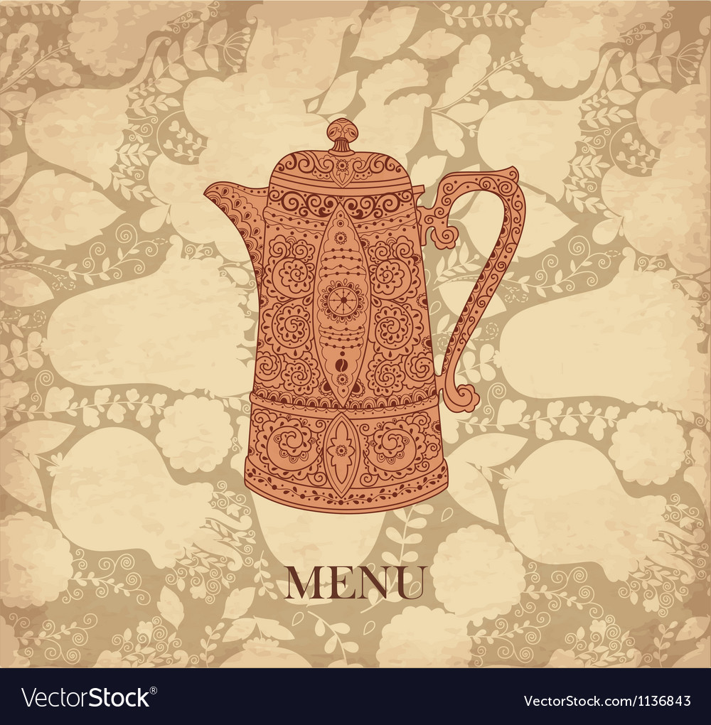 Pattern menu for cafe vector