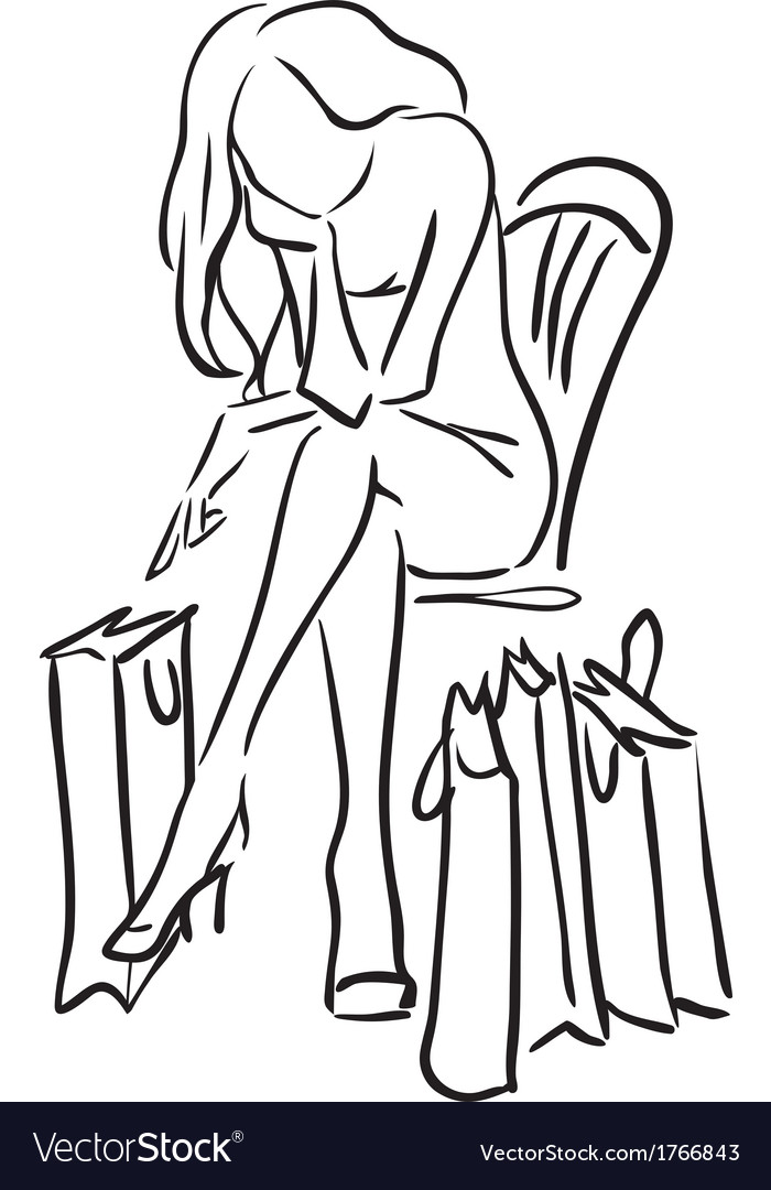 Series shopping the woman tired from shopping vector   Price: 1 Credit (USD $1)