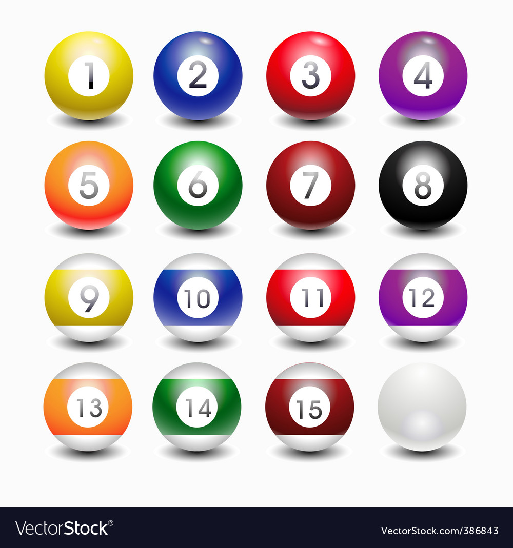 Snooker balls vector | Price: 1 Credit (USD $1)