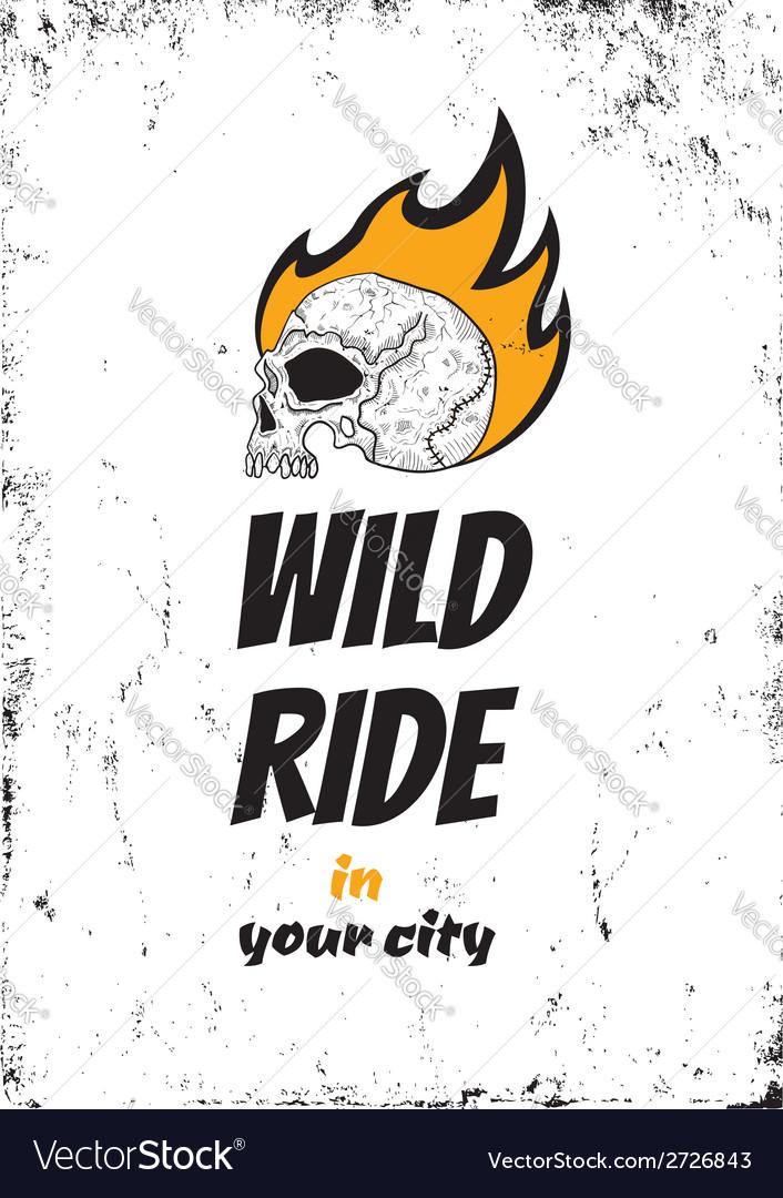 Wild ride black vector | Price: 1 Credit (USD $1)
