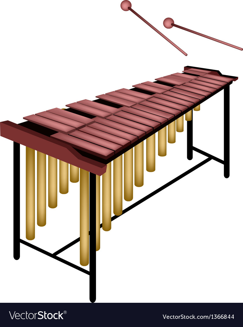 A musical marimba isolated on white background vector | Price: 1 Credit (USD $1)