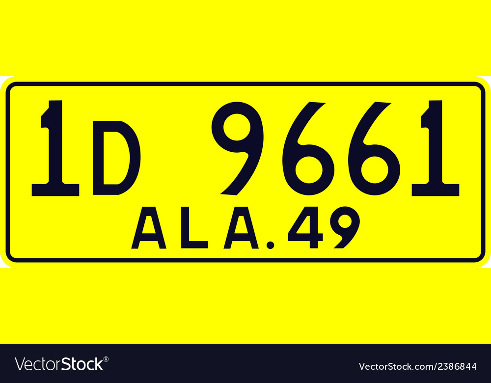 Alabama 1949 license plate vector | Price: 1 Credit (USD $1)