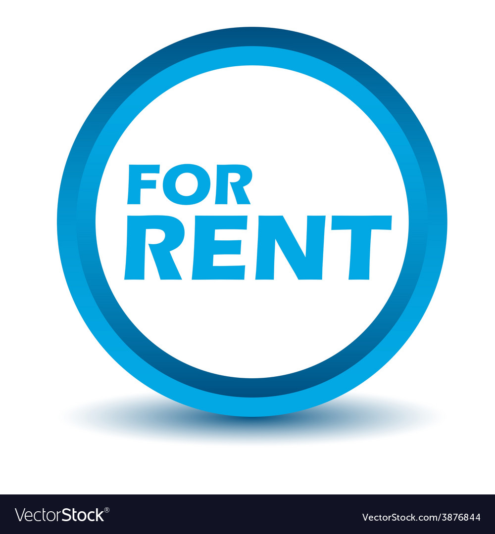 Blue rent icon vector | Price: 1 Credit (USD $1)