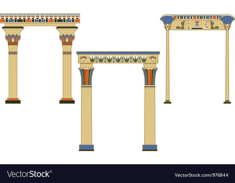 Egyptian arch vector | Price: 1 Credit (USD $1)