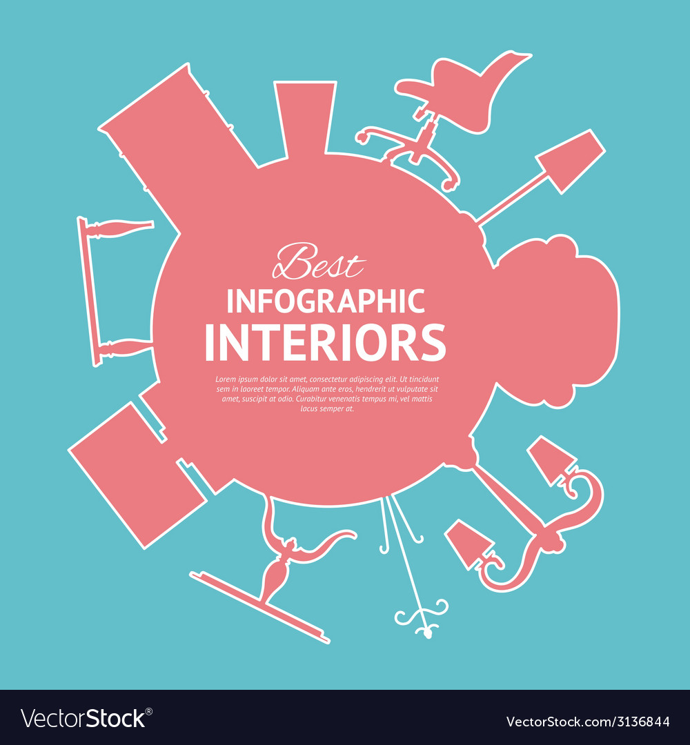 Flat colors infographics vector | Price: 1 Credit (USD $1)