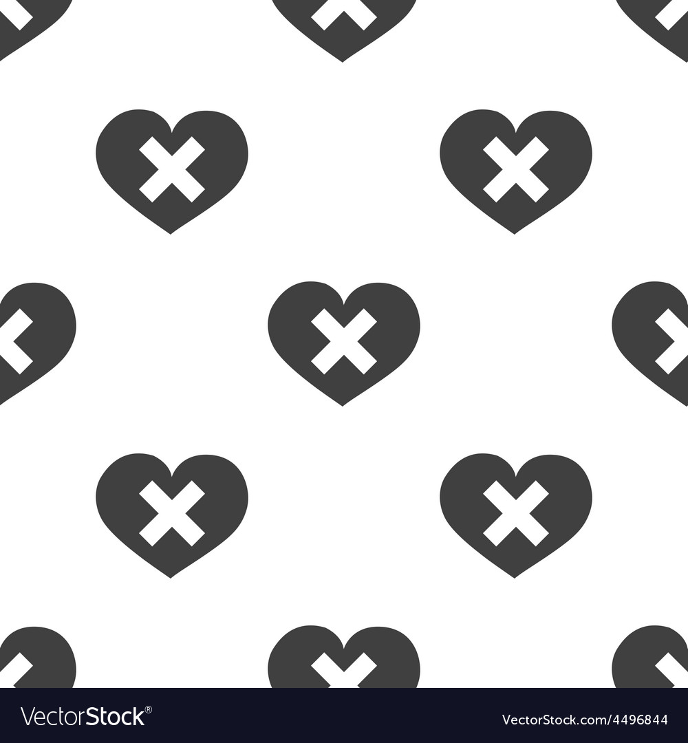 Heart plaster seamless pattern vector | Price: 1 Credit (USD $1)