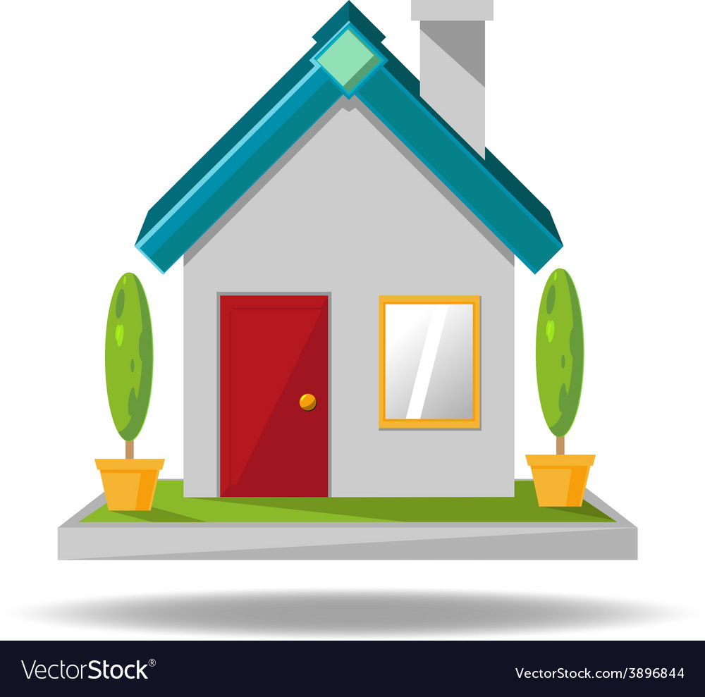 House icon cartoon vector | Price: 1 Credit (USD $1)