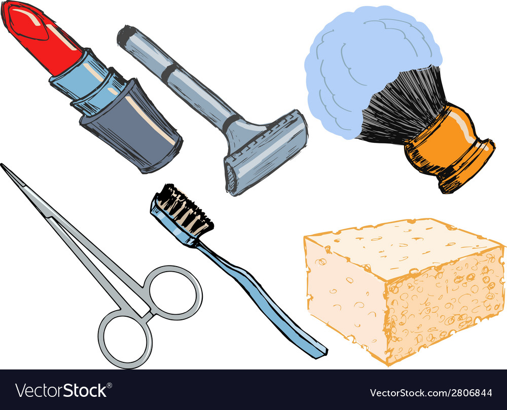 Hygienic objects vector | Price: 1 Credit (USD $1)