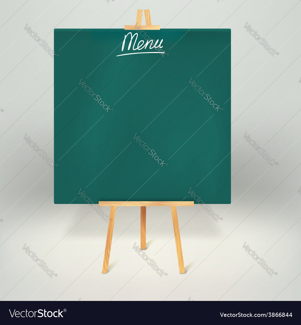 Menu blackboards or chalkboards vector