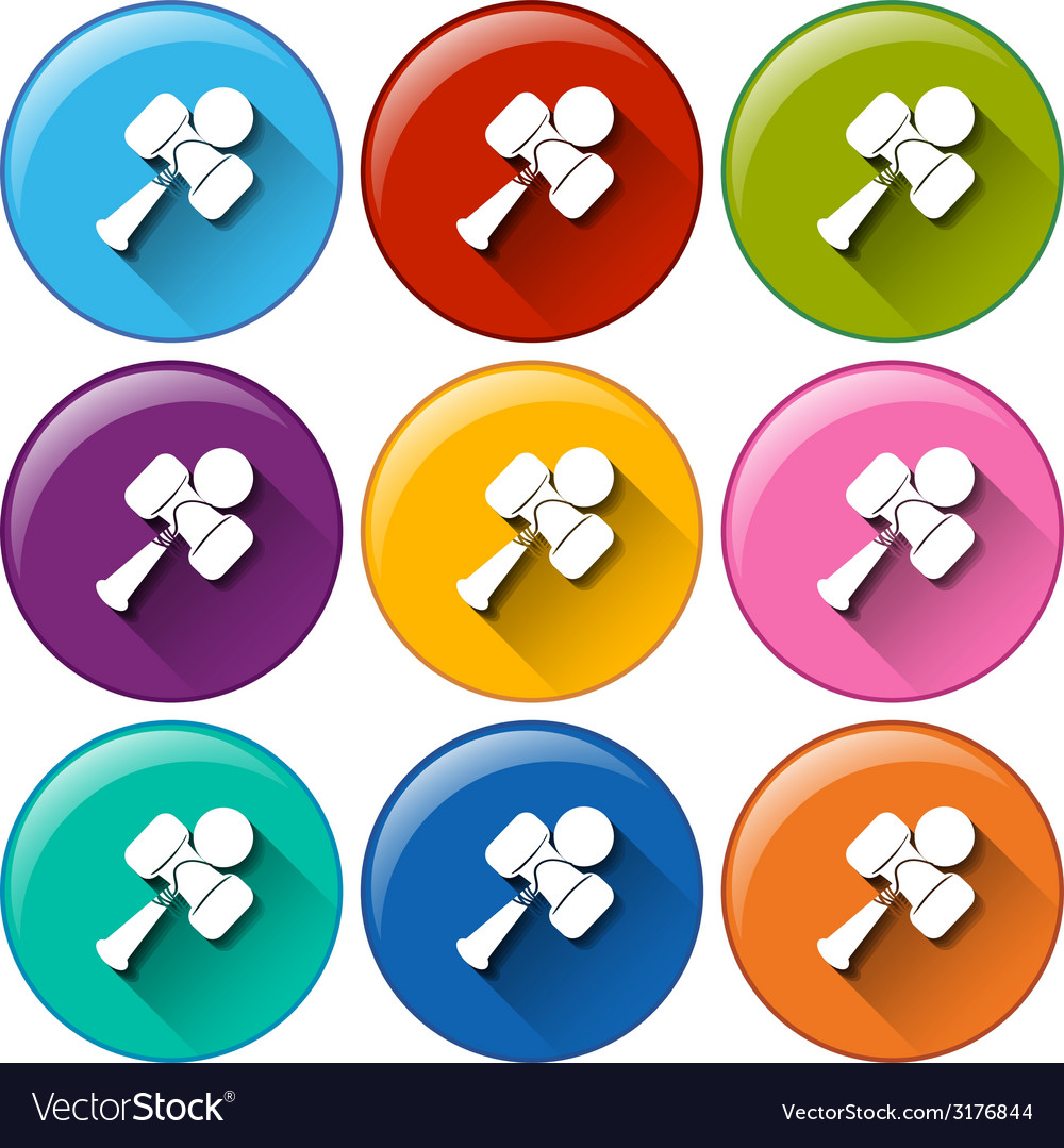 Rounded buttons with toys vector   Price: 1 Credit (USD $1)