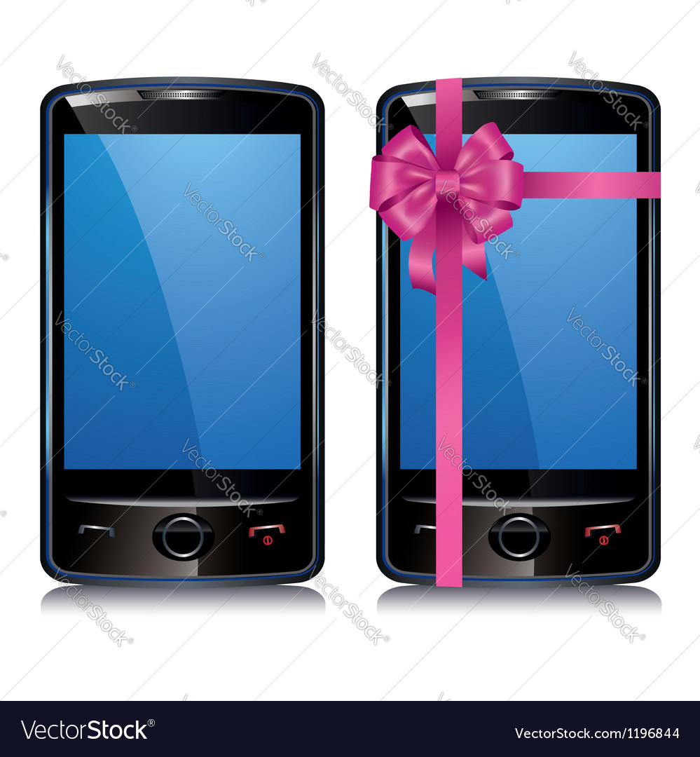 Set of touch screen smart phone vector | Price: 3 Credit (USD $3)