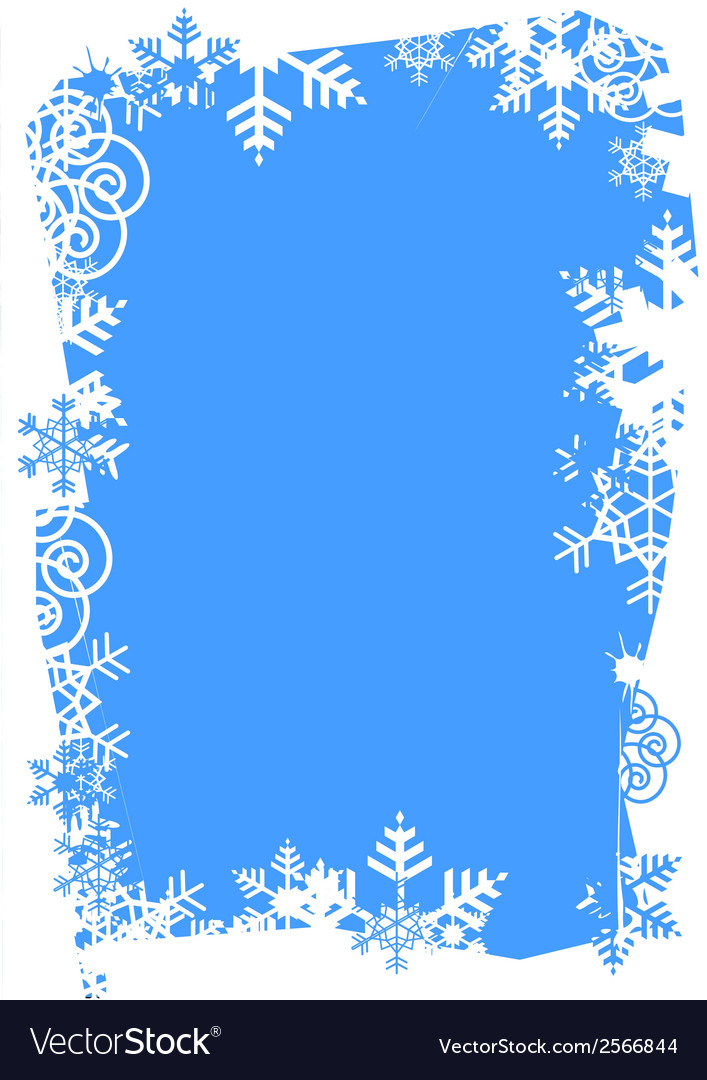 Snowflakes grunge frame vector | Price: 1 Credit (USD $1)