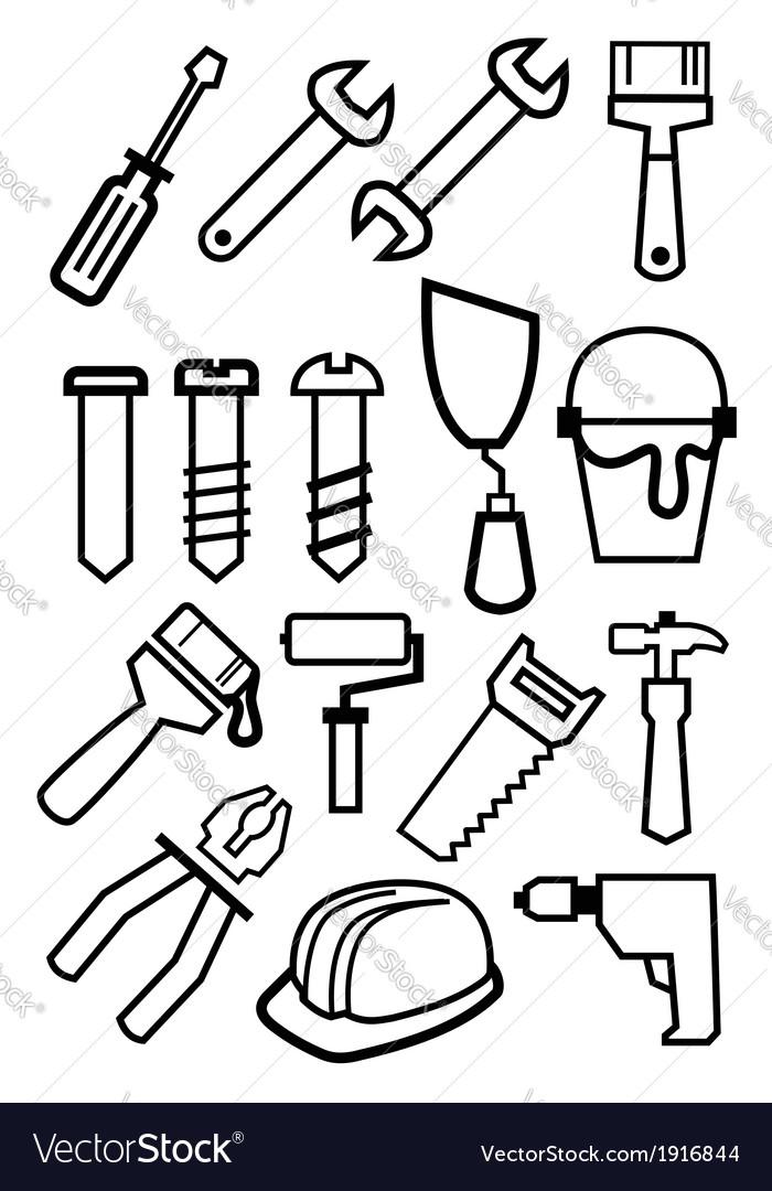 Tools set vector | Price: 1 Credit (USD $1)