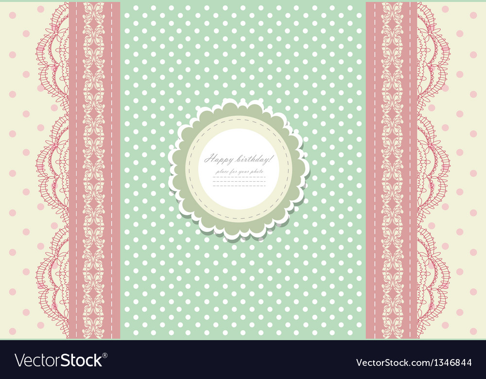 Vintage pink wedding card vector | Price: 1 Credit (USD $1)