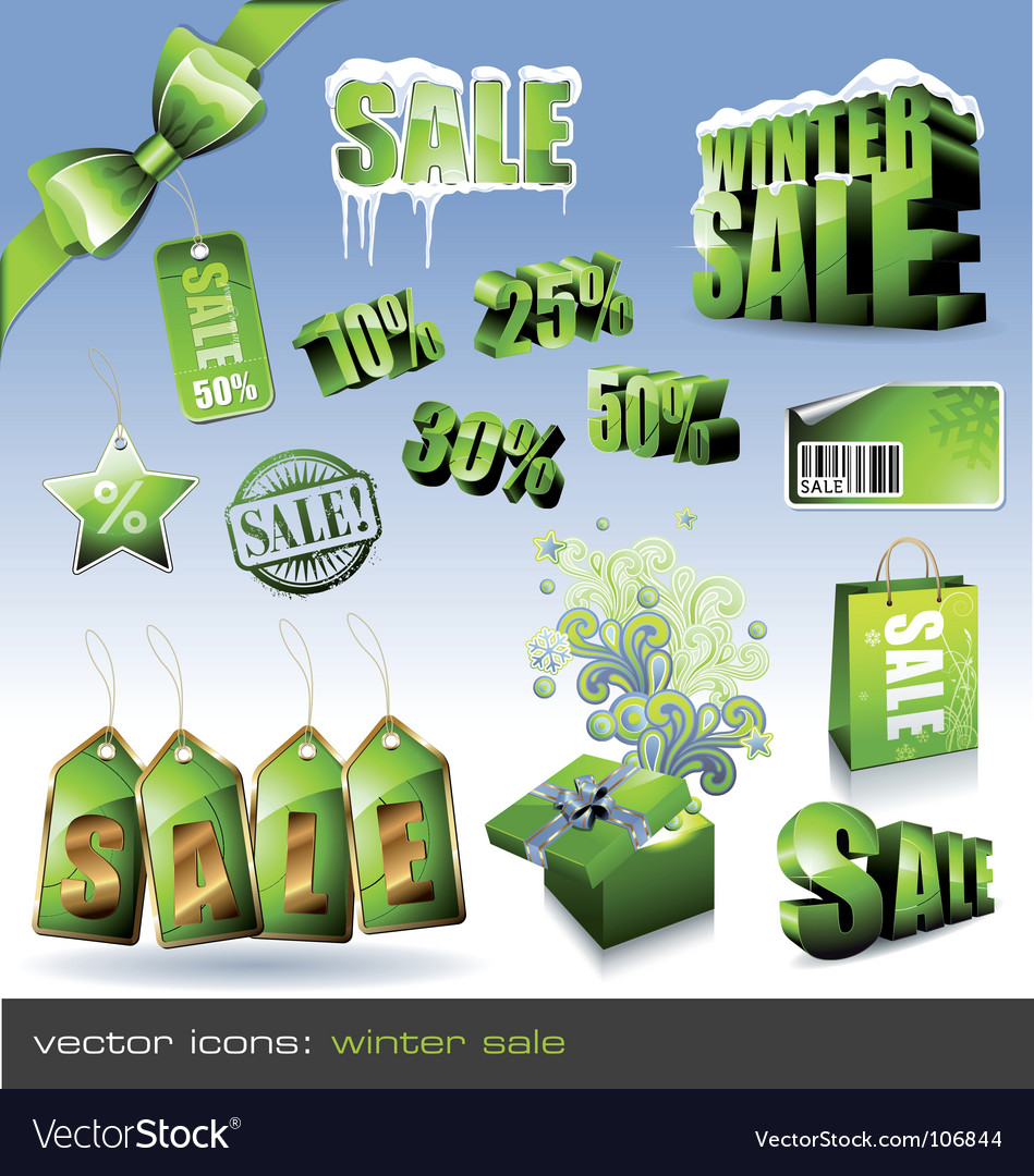 Winter sale sign vector