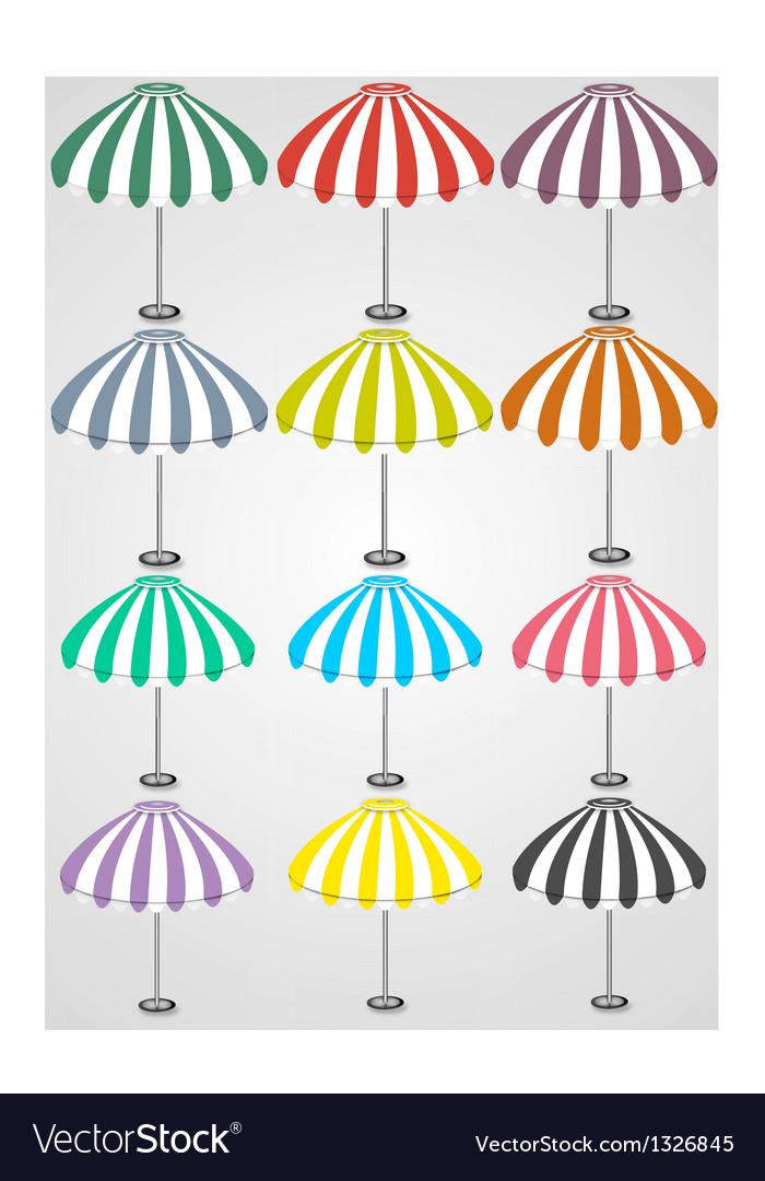 12 detailed umbrellas vector | Price: 1 Credit (USD $1)