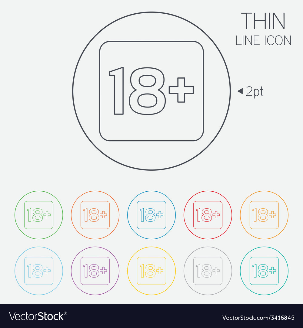 18 years old sign adults content only vector   Price: 1 Credit (USD $1)