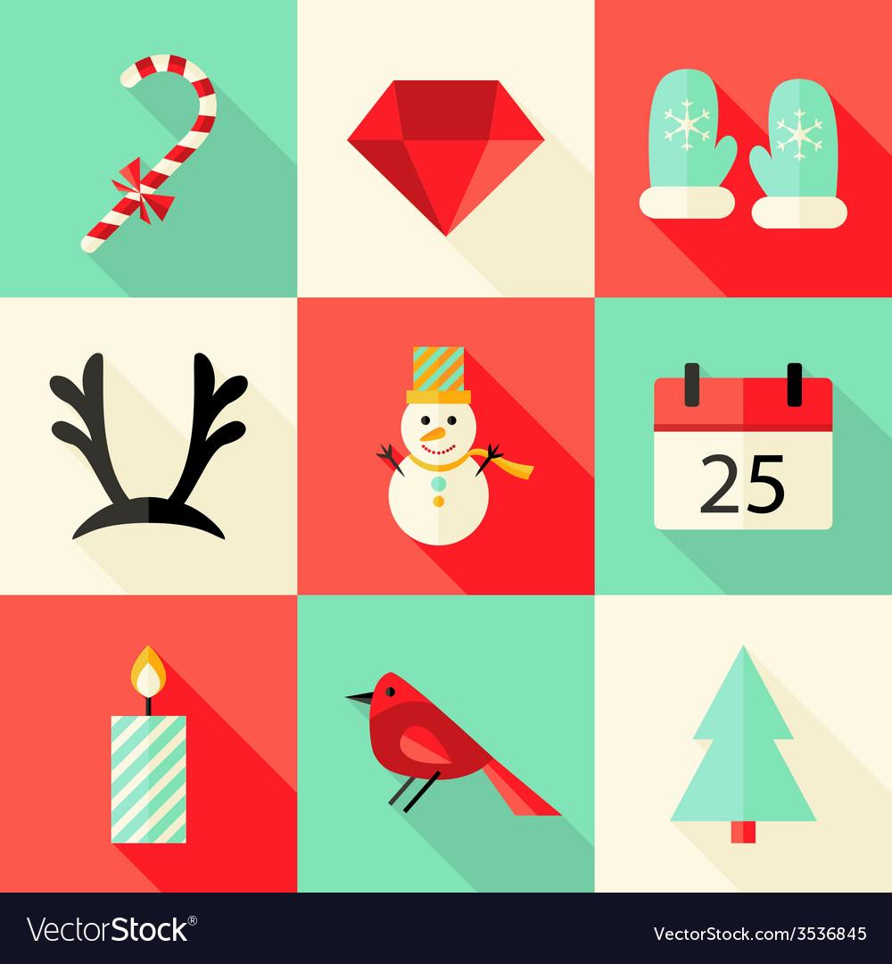 9 christmas flat icons set 3 vector   Price: 1 Credit (USD $1)