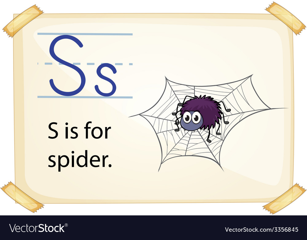 A letter s for spider vector | Price: 3 Credit (USD $3)