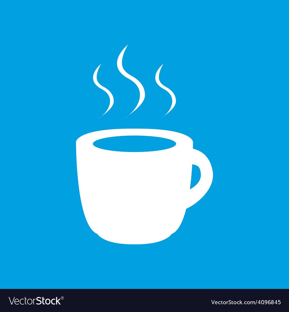 Coffee white icon vector | Price: 1 Credit (USD $1)
