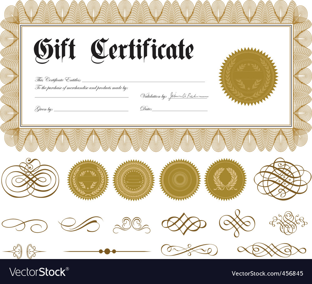 Gift certificate vector | Price: 1 Credit (USD $1)