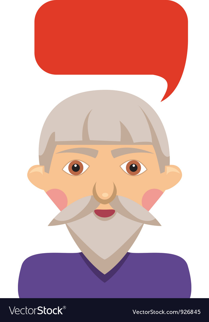 Grandfather with bubble vector | Price: 1 Credit (USD $1)