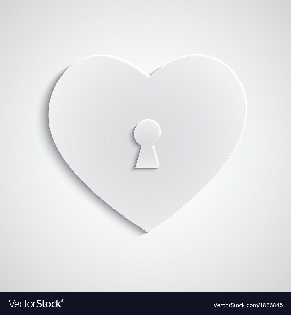 Paper heart with keyhole vector | Price: 1 Credit (USD $1)