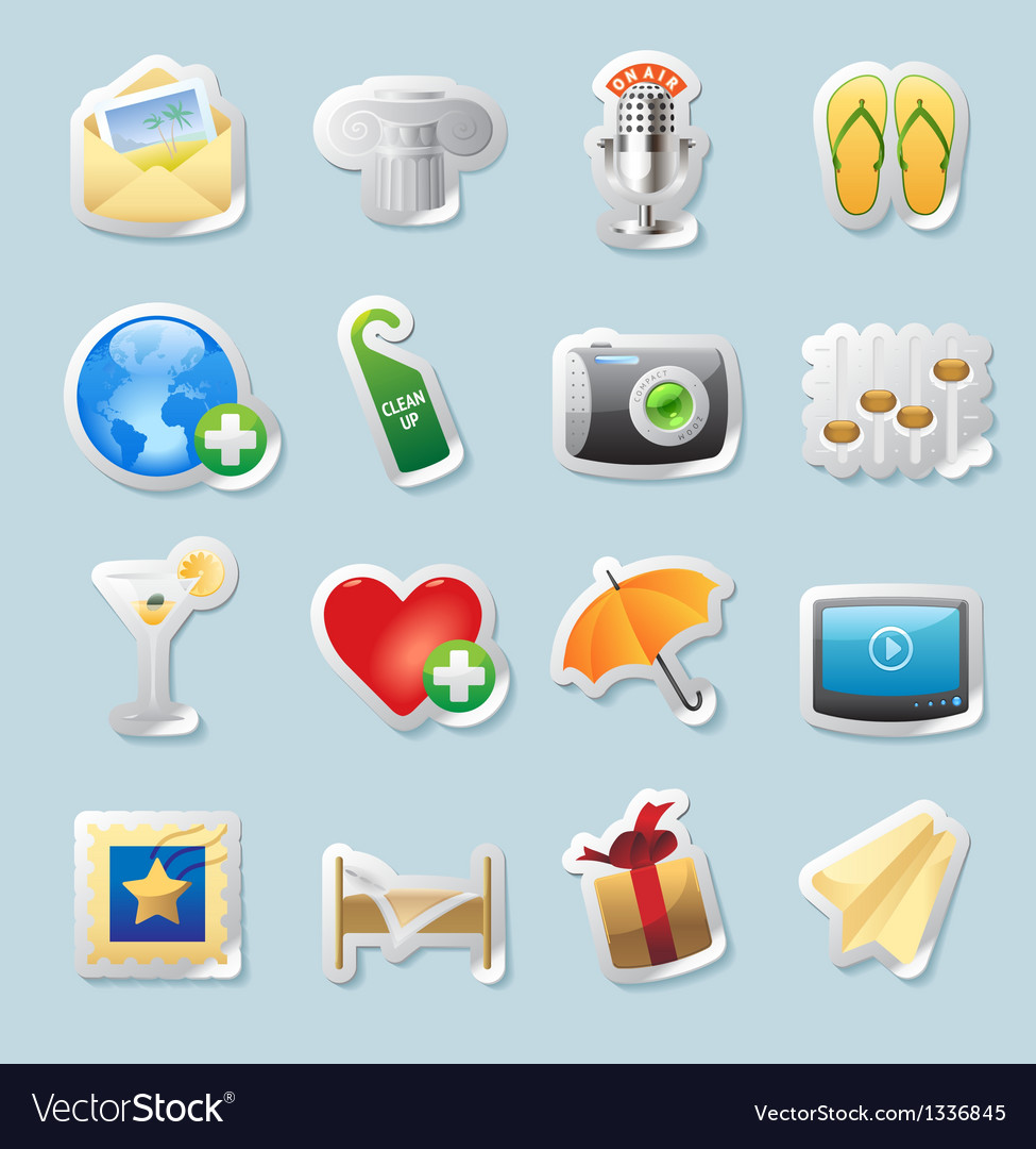 Sticker icons for entertainment vector | Price: 1 Credit (USD $1)