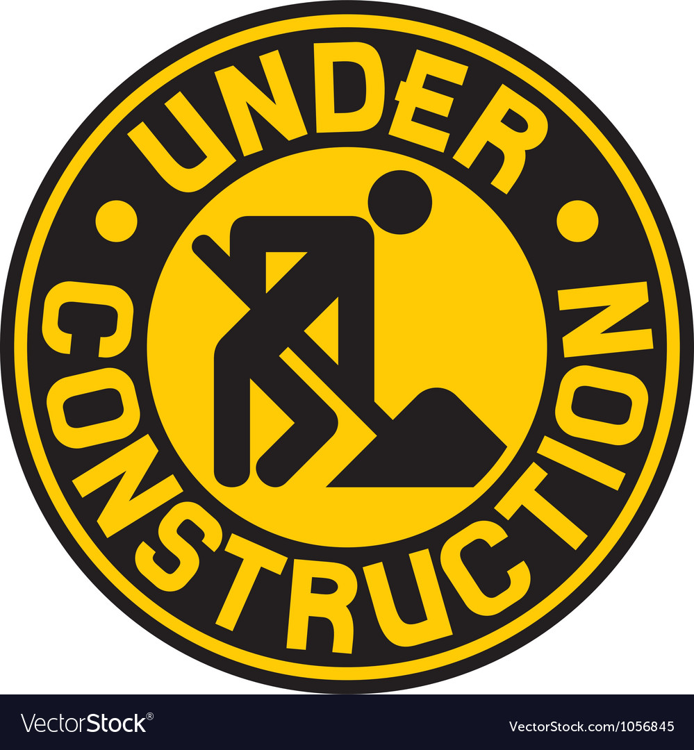 Under construction sign with man vector | Price: 1 Credit (USD $1)