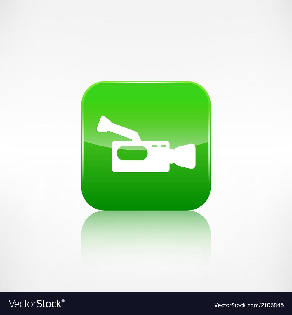 Video camera icon media symbol app botton vector   Price: 1 Credit (USD $1)