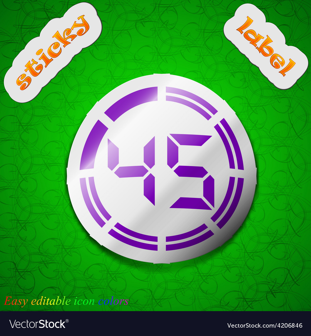 45 second stopwatch icon sign symbol chic colored vector | Price: 1 Credit (USD $1)