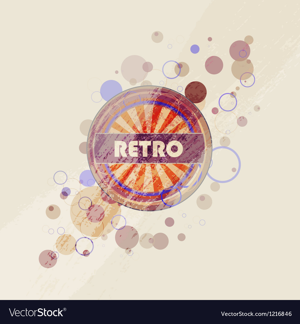Abstract creative retro labels background vector | Price: 1 Credit (USD $1)