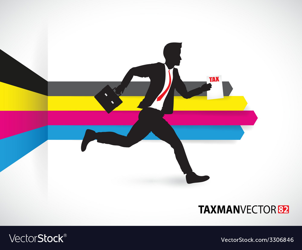 Cmyk side business runner vector | Price: 1 Credit (USD $1)