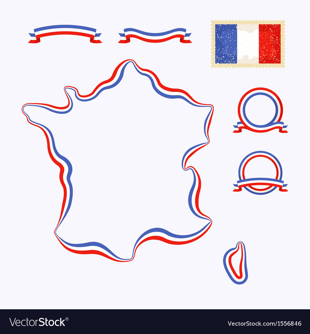 Colors of france vector | Price: 1 Credit (USD $1)