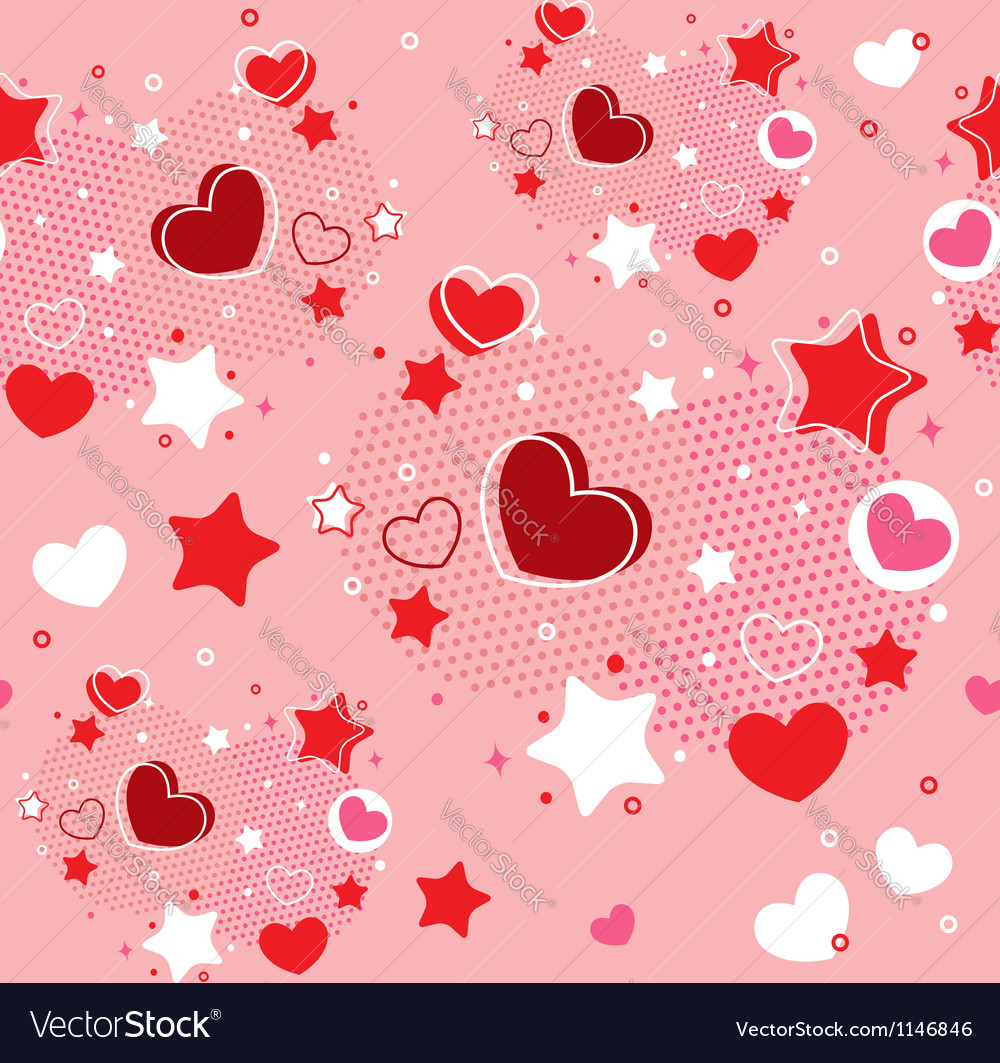 Cute valentine seamless pattern vector | Price: 1 Credit (USD $1)