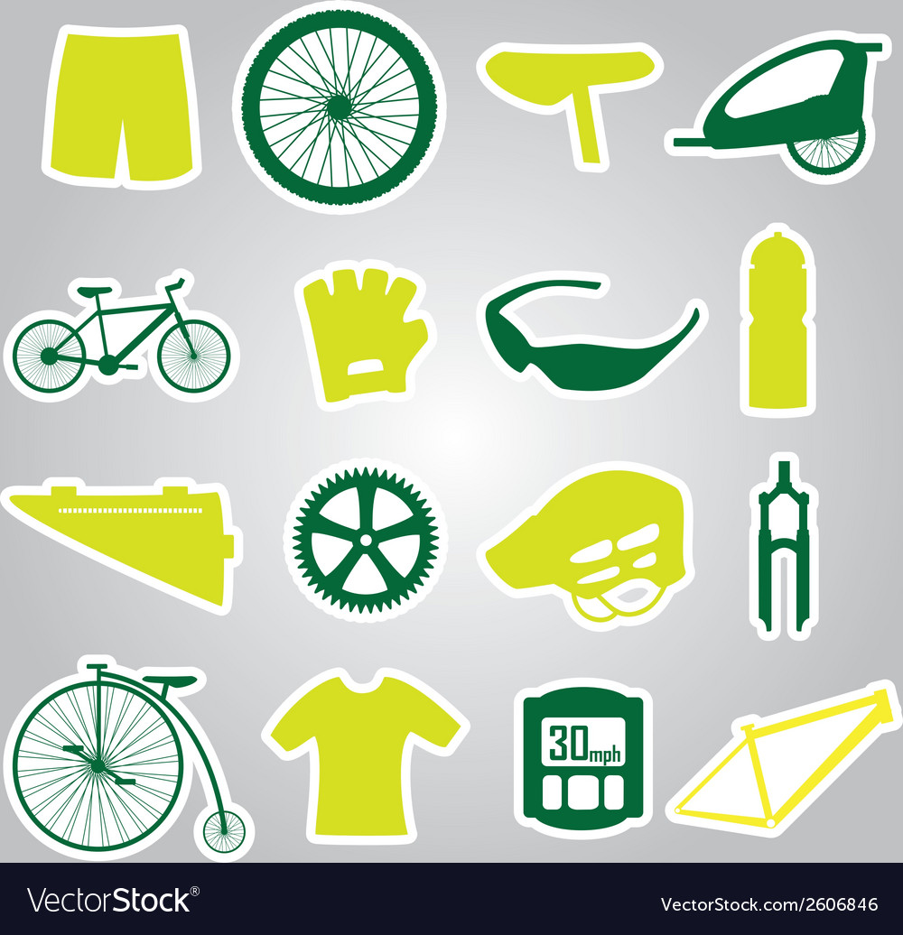 Cycling icon stickers eps10 vector | Price: 1 Credit (USD $1)