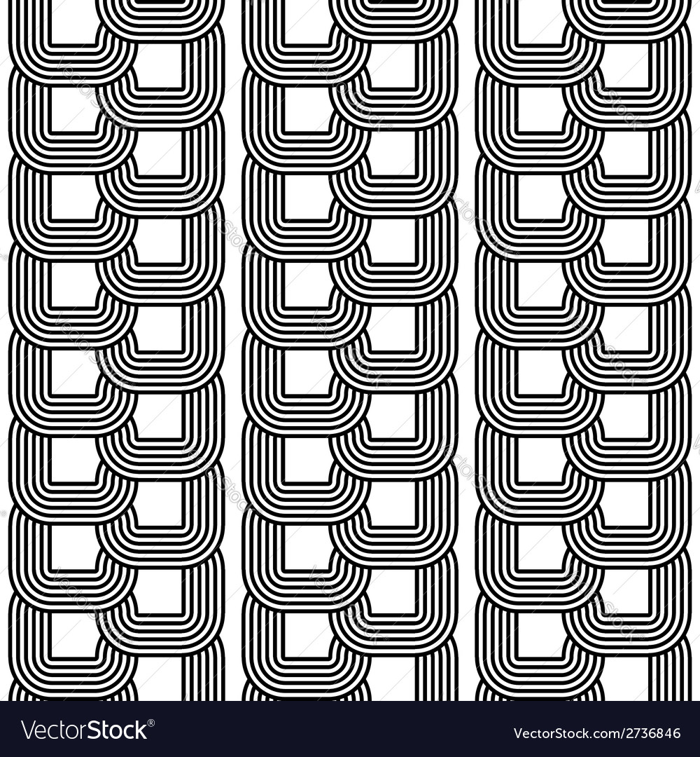 Design seamless monochrome chain geometric pattern vector | Price: 1 Credit (USD $1)
