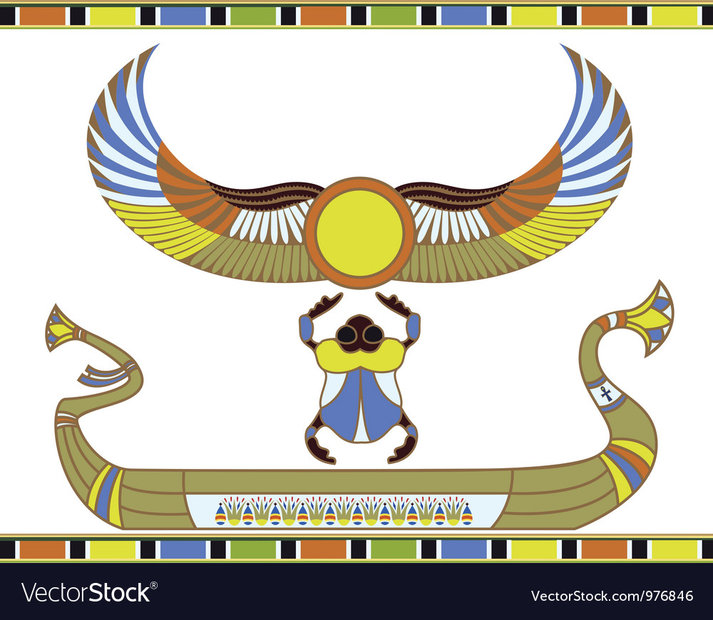 Egyptian sun boat vector | Price: 1 Credit (USD $1)