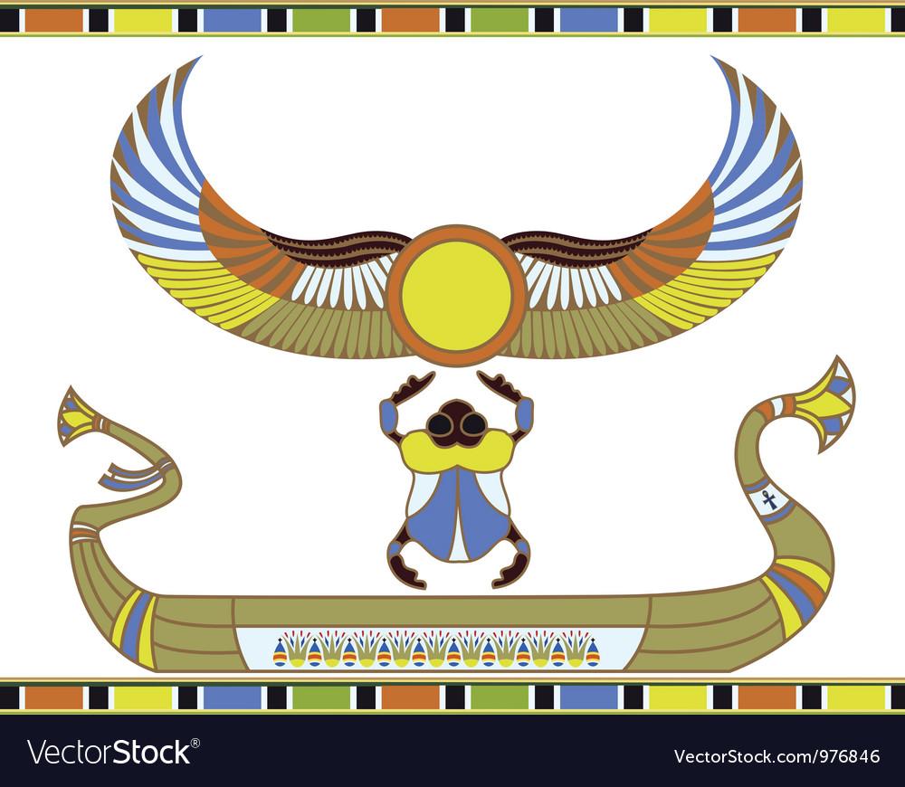 Egyptian sun boat vector | Price: 1 Credit (USD $1)