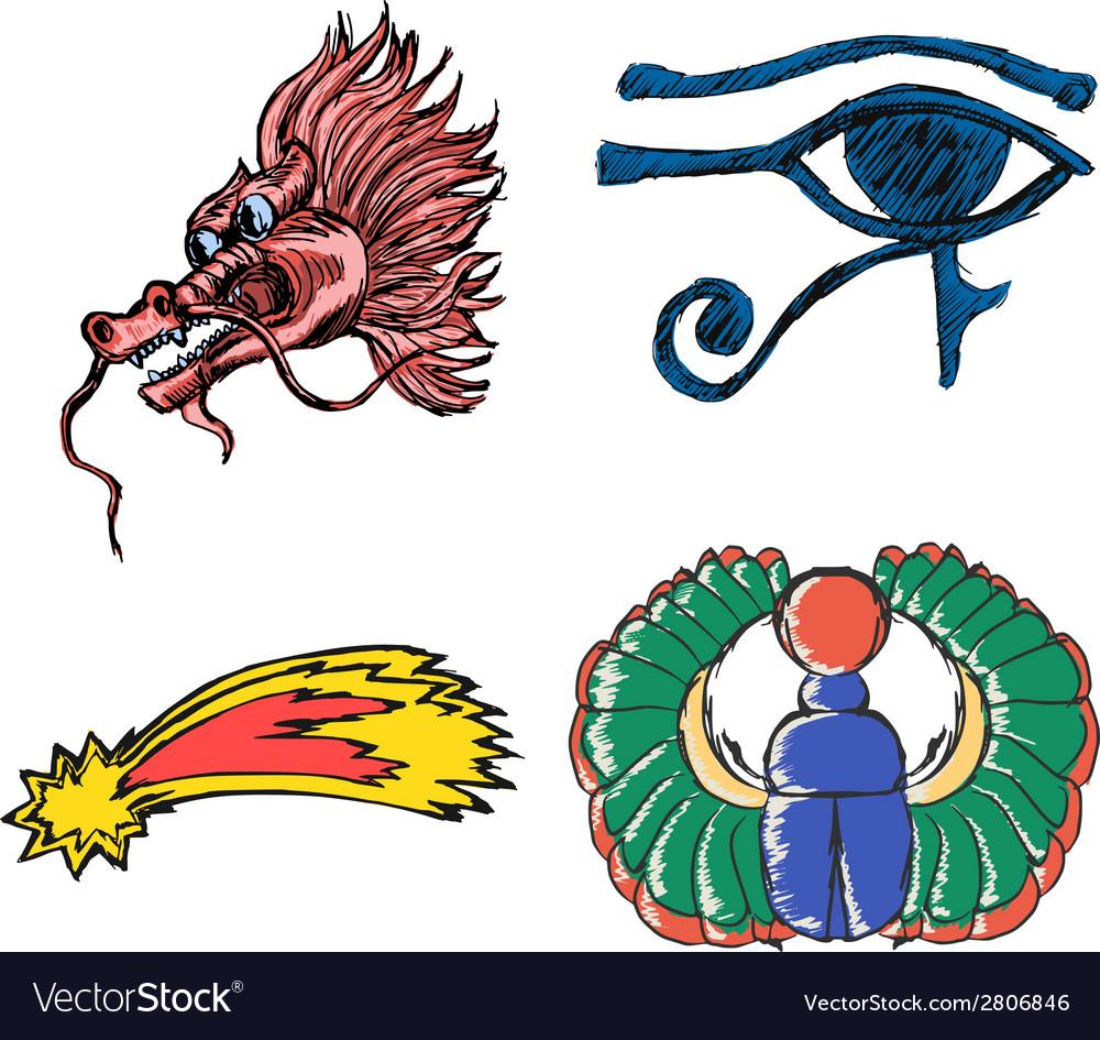Esoteric symbols vector