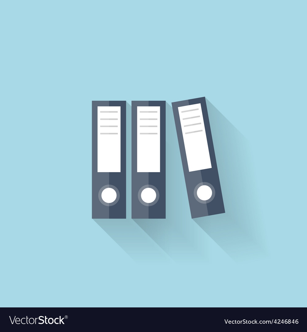 Flat web icon documents paper folder vector | Price: 1 Credit (USD $1)