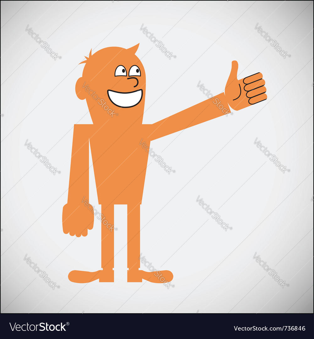 Gesturing thumbs up vector | Price: 1 Credit (USD $1)