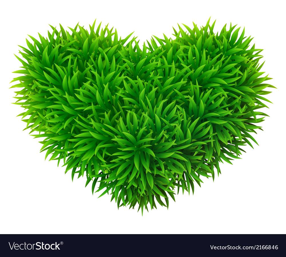 Grassy heart vector   Price: 1 Credit (USD $1)